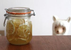 レモンシロップを仕込む