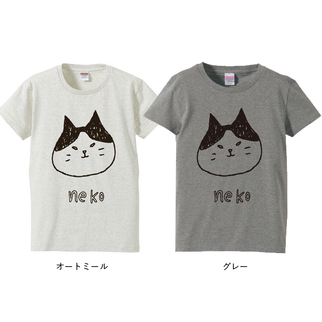 BASE_勝ち気なかおの猫Tシャツカラー